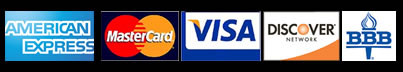 Accepting Visa card, master card, discover card, member better business bureau